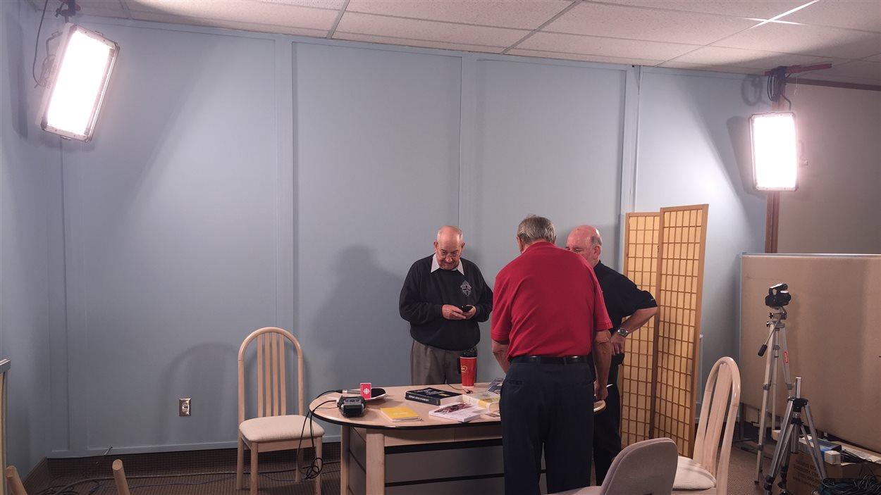 Le studio de l'émission L'Église diocésaine.
