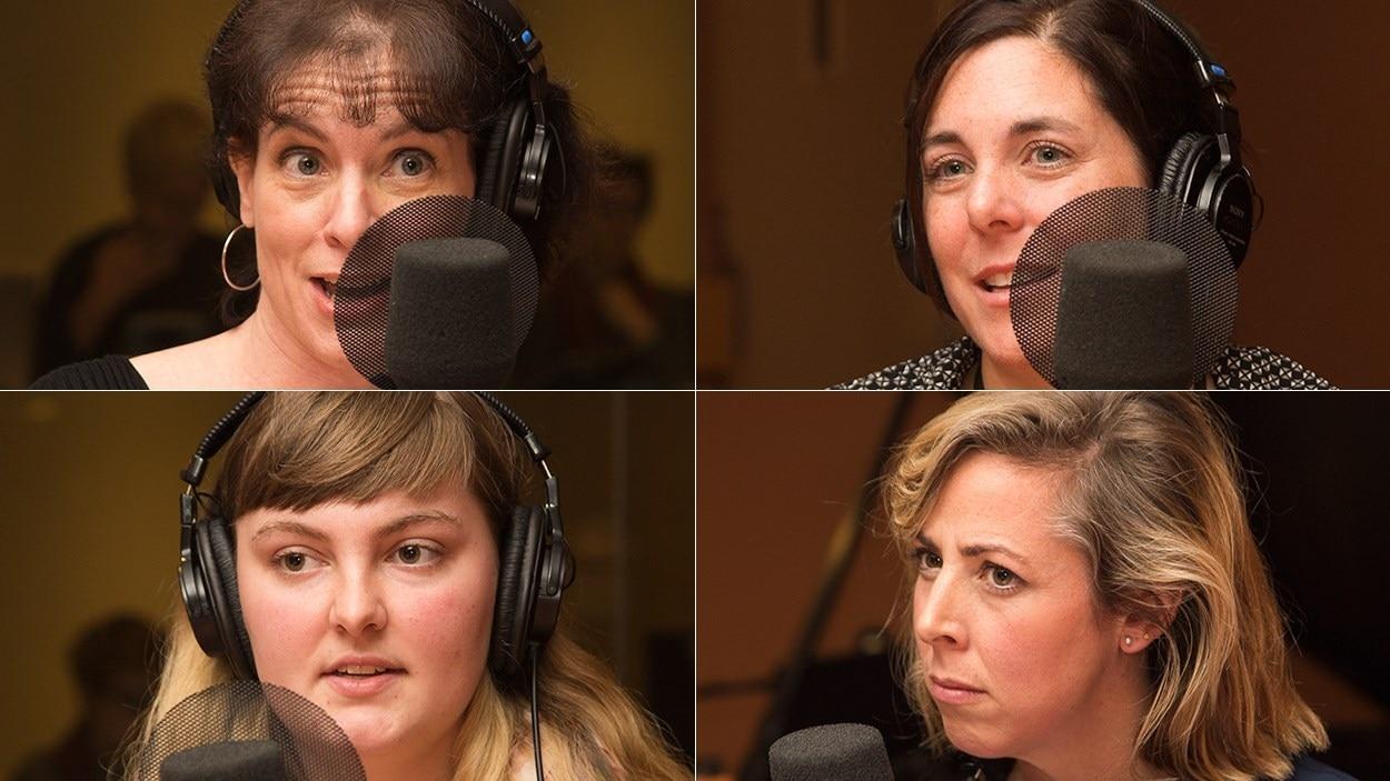 De gauche à droite et de haut en bas : Pascale Turbide, Annie Leblanc, Naomie Boudreau et Florence Marcil-Denault