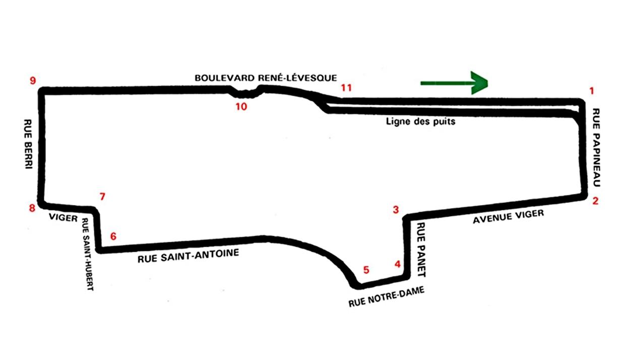 Le tracé de la course de Fornule E de Montréal