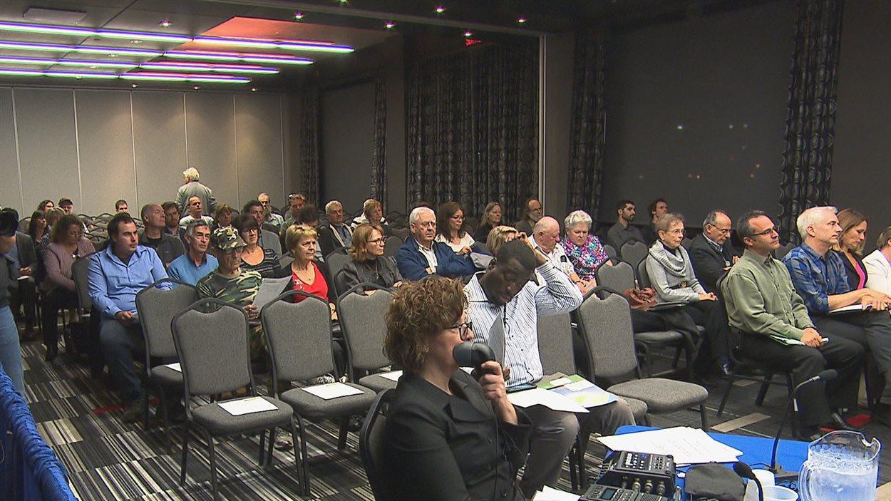 Audience du BAPE à Sherbrooke relativement au projet interconnexion Québec-New Hampshire
