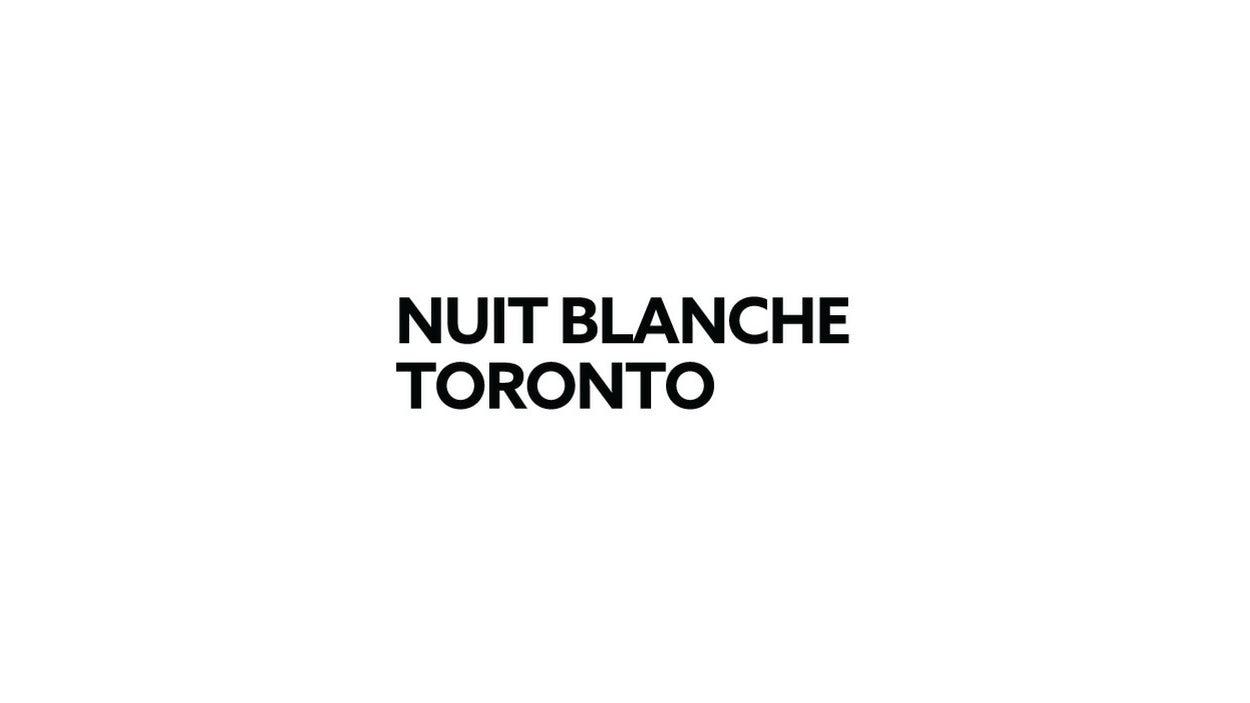 Logo de Nuit Blanche à Toronto du 1er octobre 2016