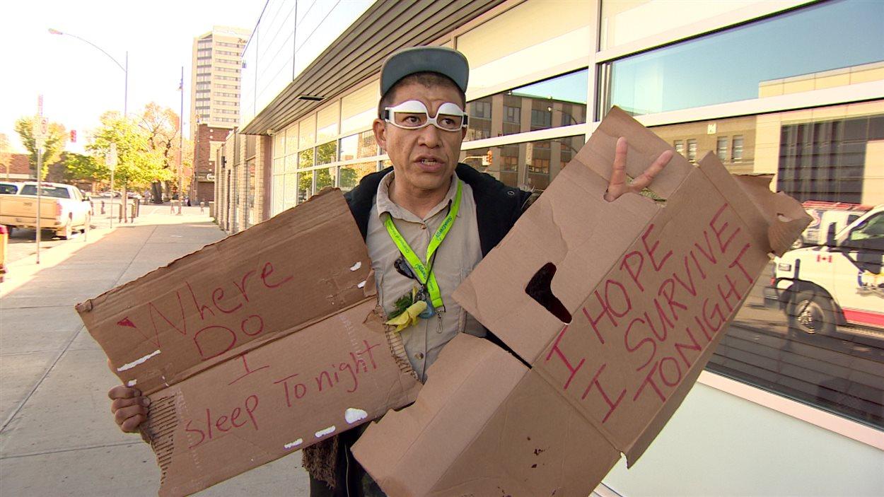 Le sans-abri Joseph Rubio souhaite la fin de l'itinérance à Saskatoon et dans le monde.