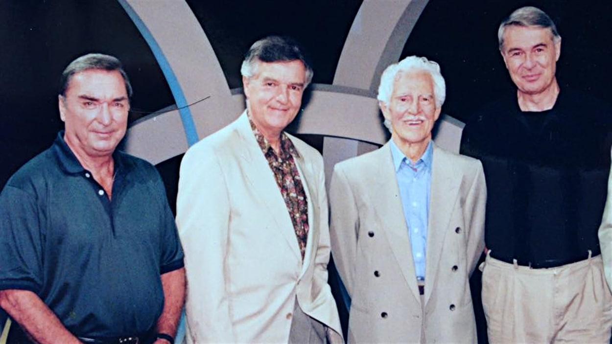 Lionel Duval, Pierre Dufault, René Lecavalier et Richard Garneau