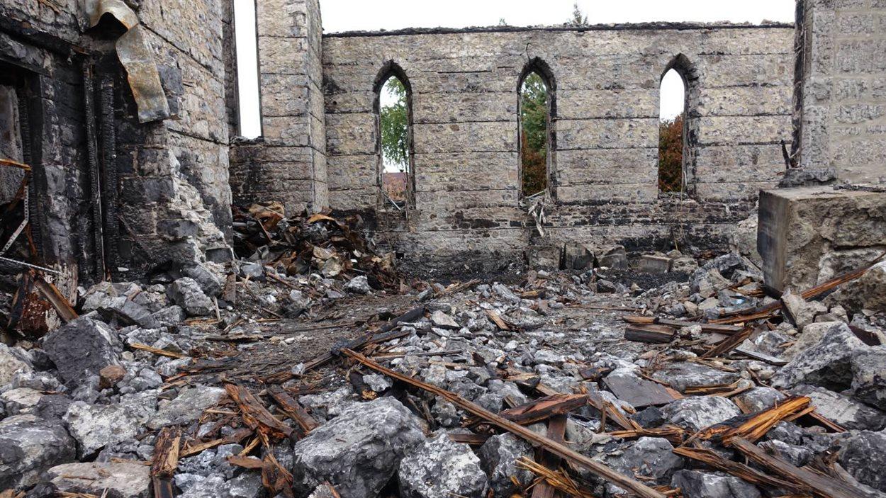 Les ruines de l'église St-Isidore seront détruites lundi.