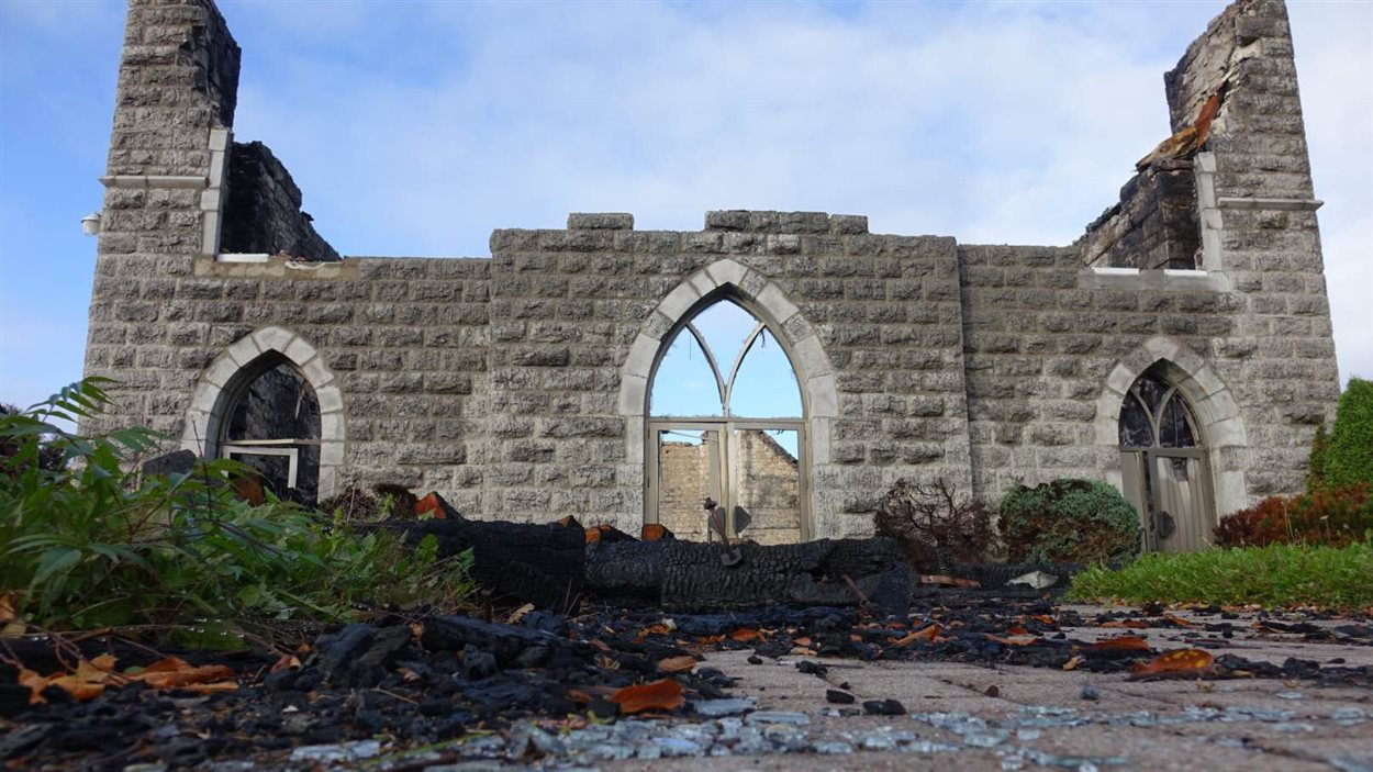 Les ruines de l'église de St-Isidore