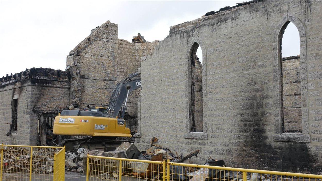 Les travaux de démolition ont commencé.