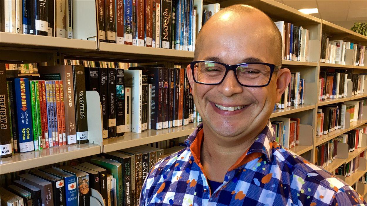 Éric Charlebois, auteur et président d'honneur de l'édition 2016 du Salon du livre de l'Est ontarien
