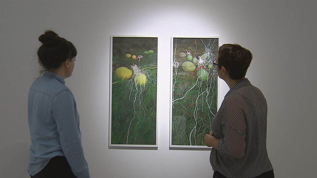 Les oeuvres d'Annie Baillargeon sont exposées à la Galerie 3.