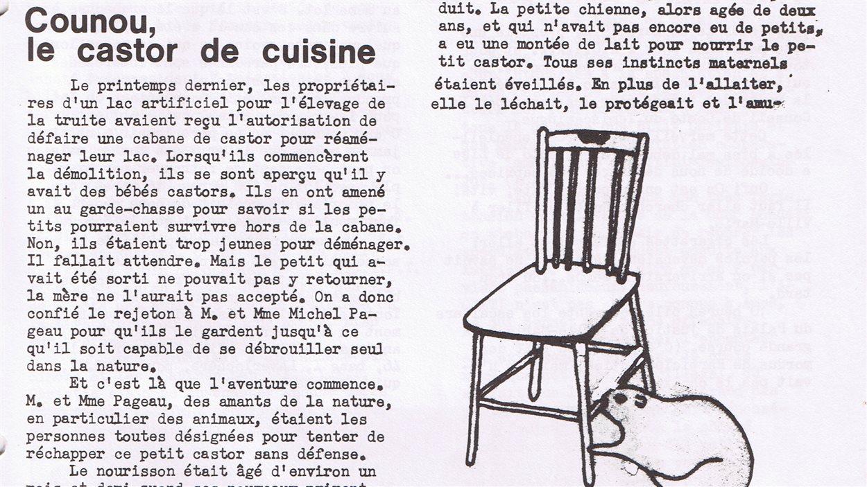 L'article de Laurier Larouche sur Michel Pageau et son castor