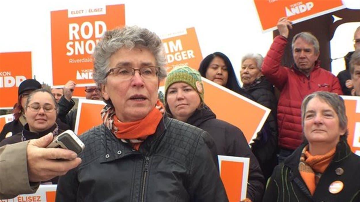 Liz Hanson, chef du Nouveau Parti démocratique au Yukon