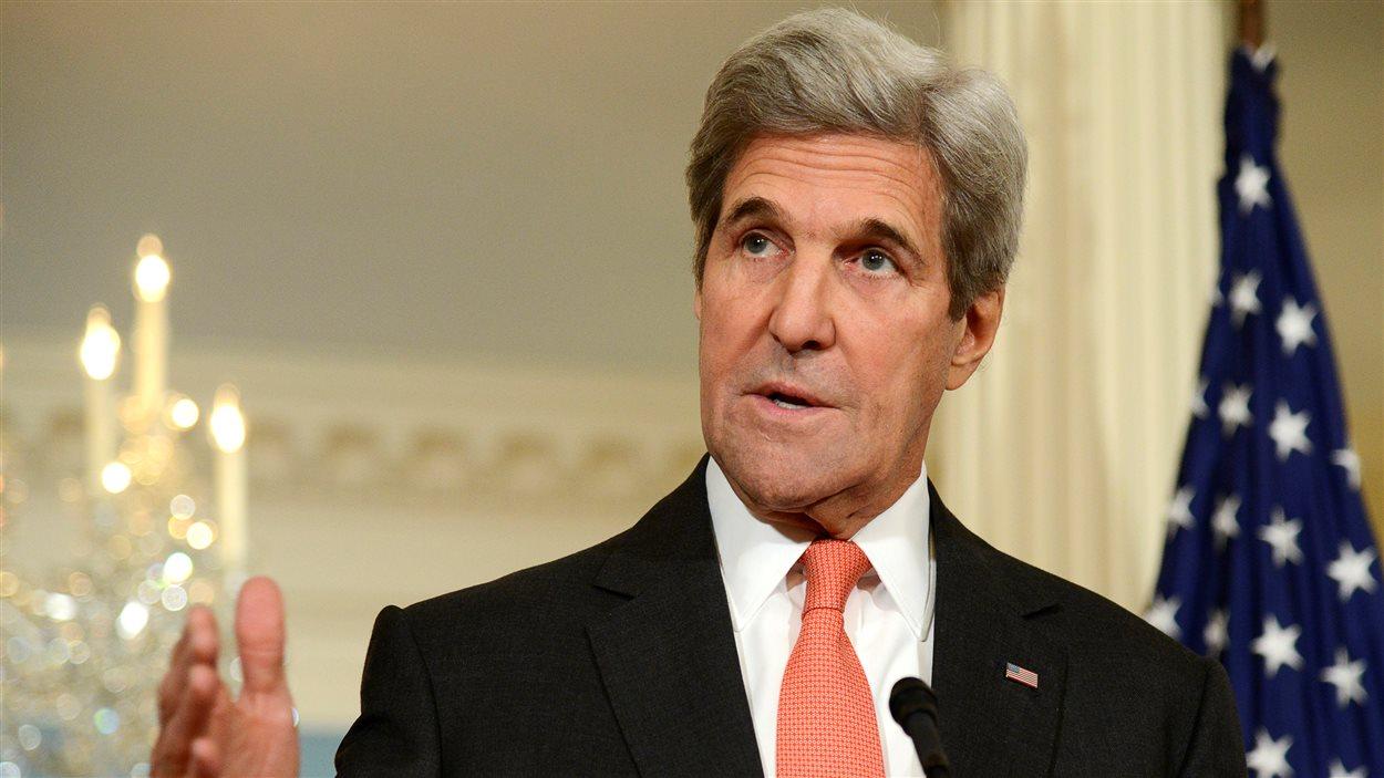 Le secrétaire d'État américain John Kerry a déclaré que la Russie et la Syrie doivent à la planète « plus que des explications ».