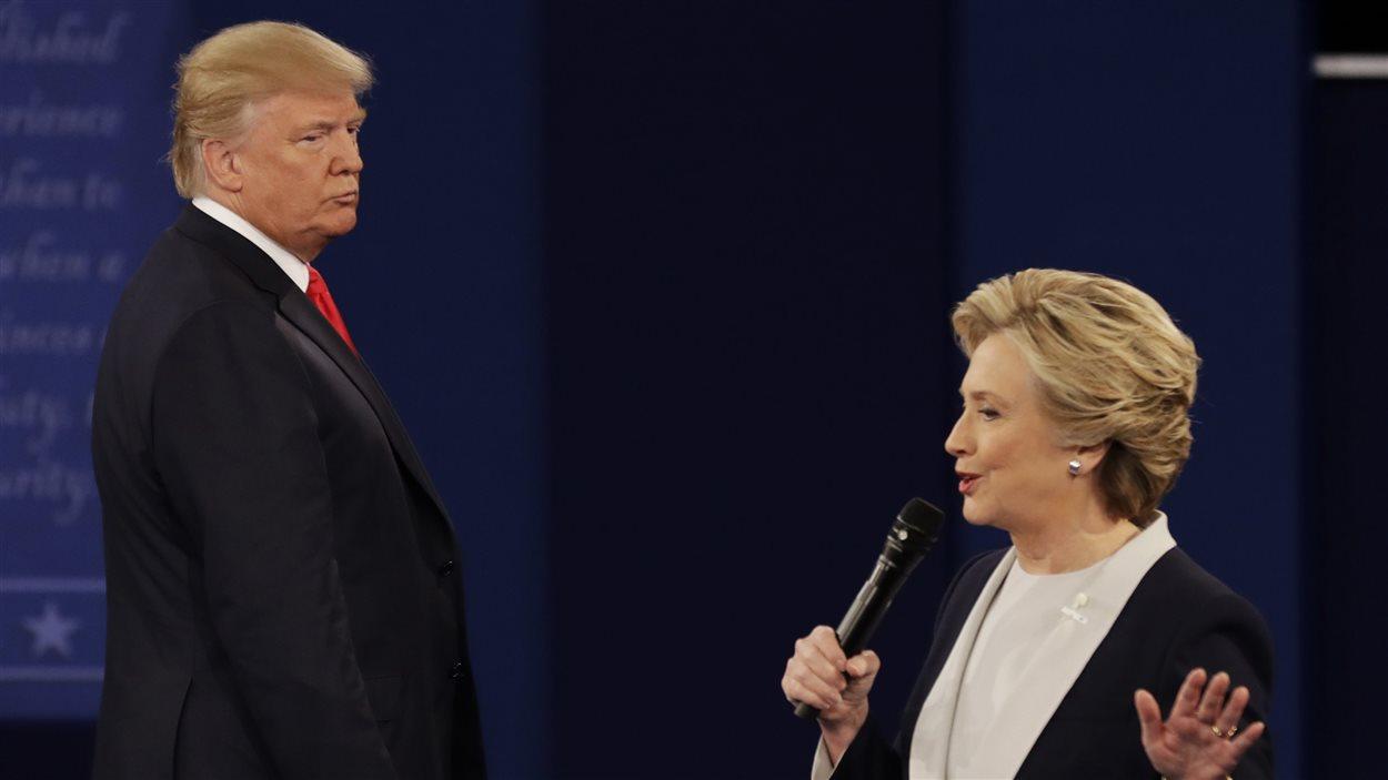 Donald Trump et Hillary Clinton lors de leur 2e débat
