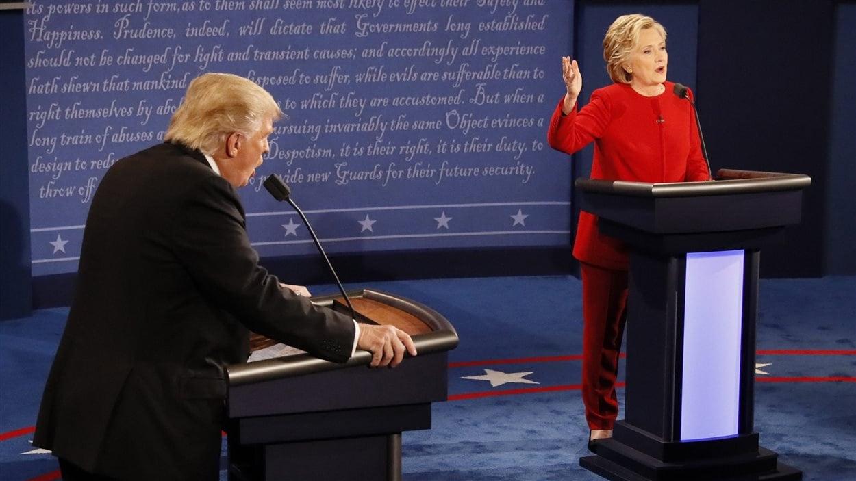 Donald Trump et Hillary Clinton lors du premier débat, en septembre dernier