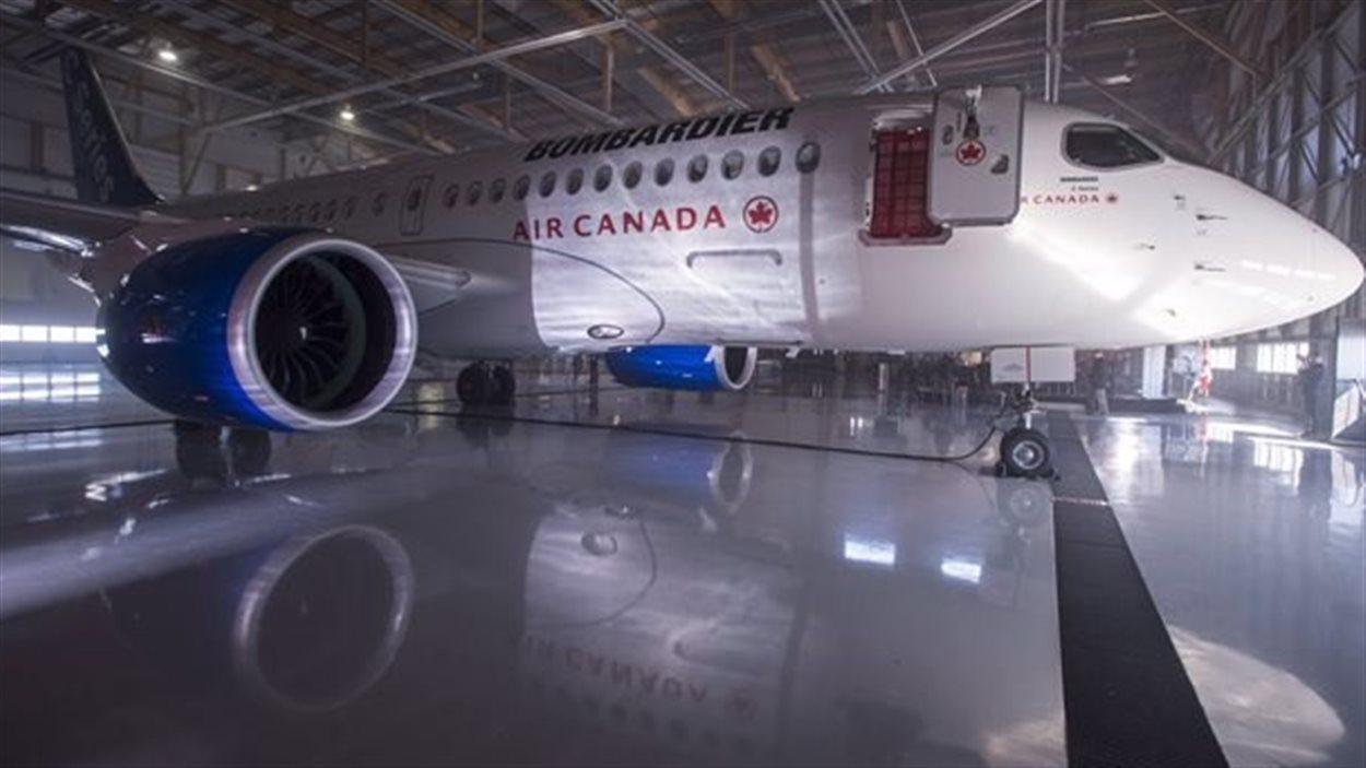 Avion de la C Series de Bombardier.
