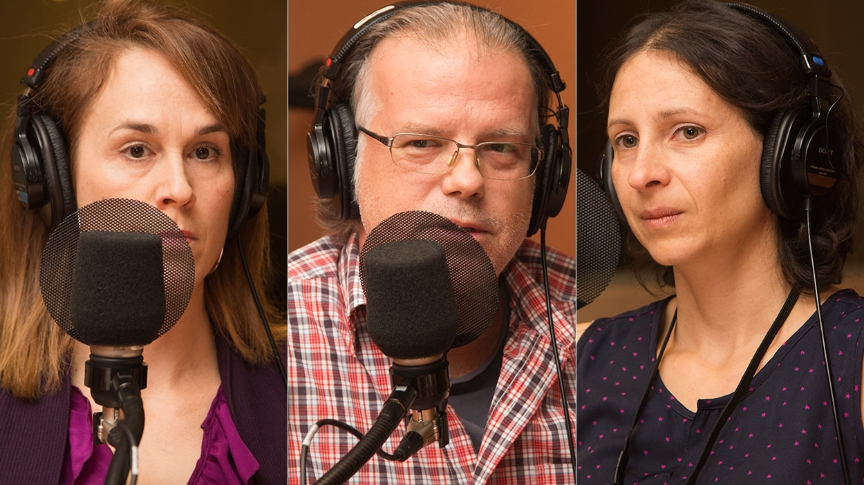 Sylvie Plante, Patrick Doucet et Myrna Chahine