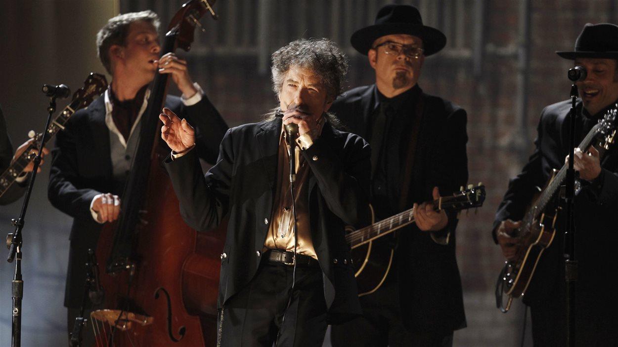 Bob Dylan, en 2011, lors de la cérémonie de remise des prix Grammys, à Los Angeles