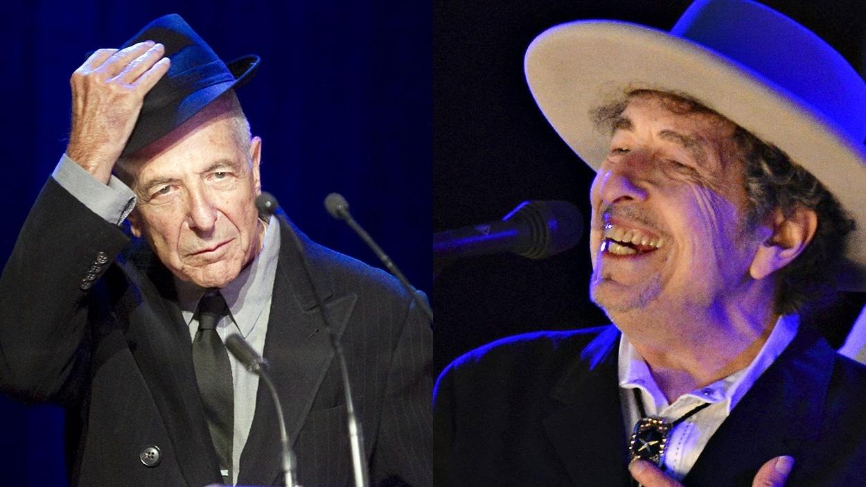 Leonard Cohen et Bob Dylan