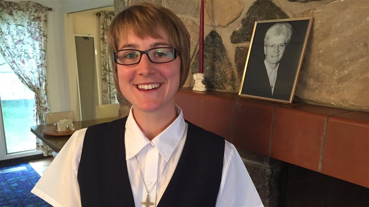 Soeur April Mireau dans la maison des soeurs de la Présentation de Marie, à Regina, où elle habite.