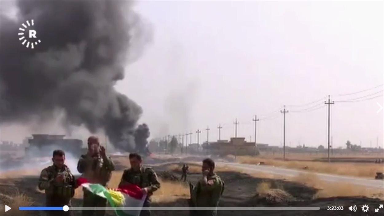 Des images de l'Agence de presse kurde Rudaw diffusées en direct sur la page Facebook d'Al Jazeera English.