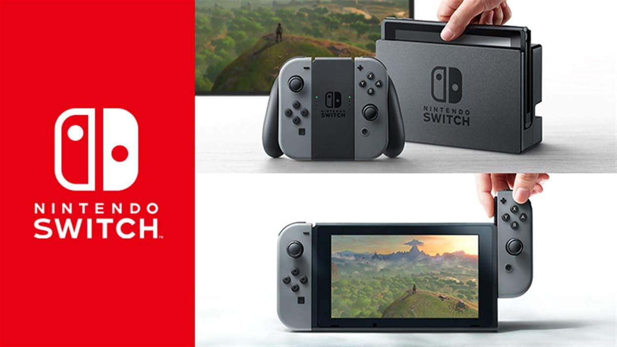 La console Nintendo Switch.