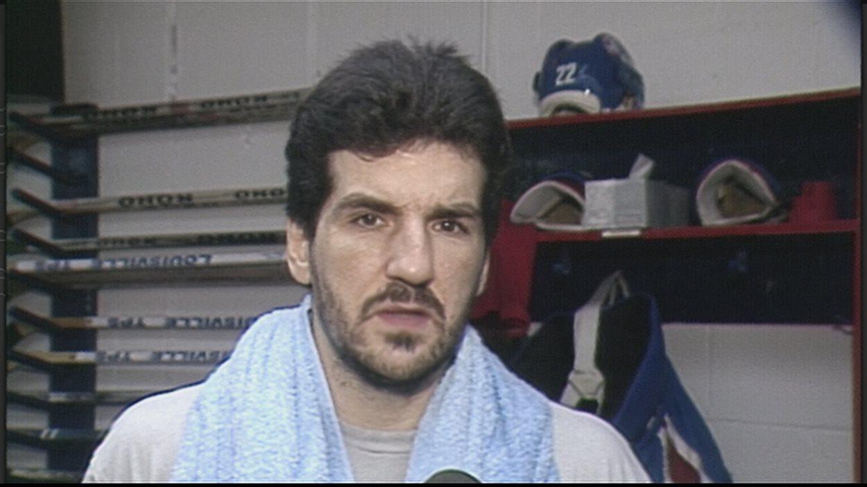 Le défenseur Mario Marois en 1988.
