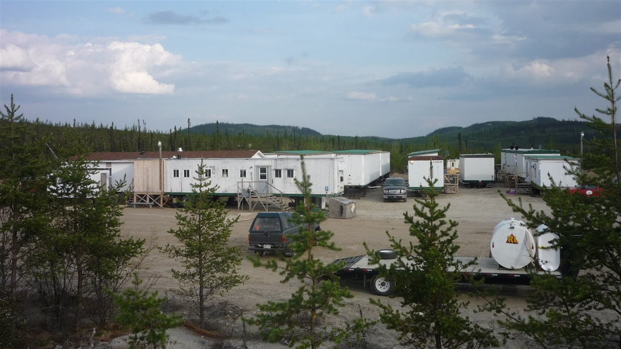 Site forestier  de l'entreprise Tramfor, au Saguenay