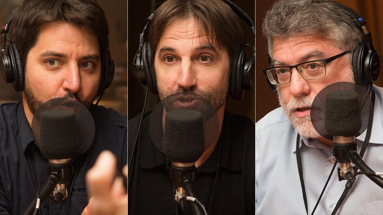 Philippe Hurteau, Steven Guilbeault et Benoît Laplante