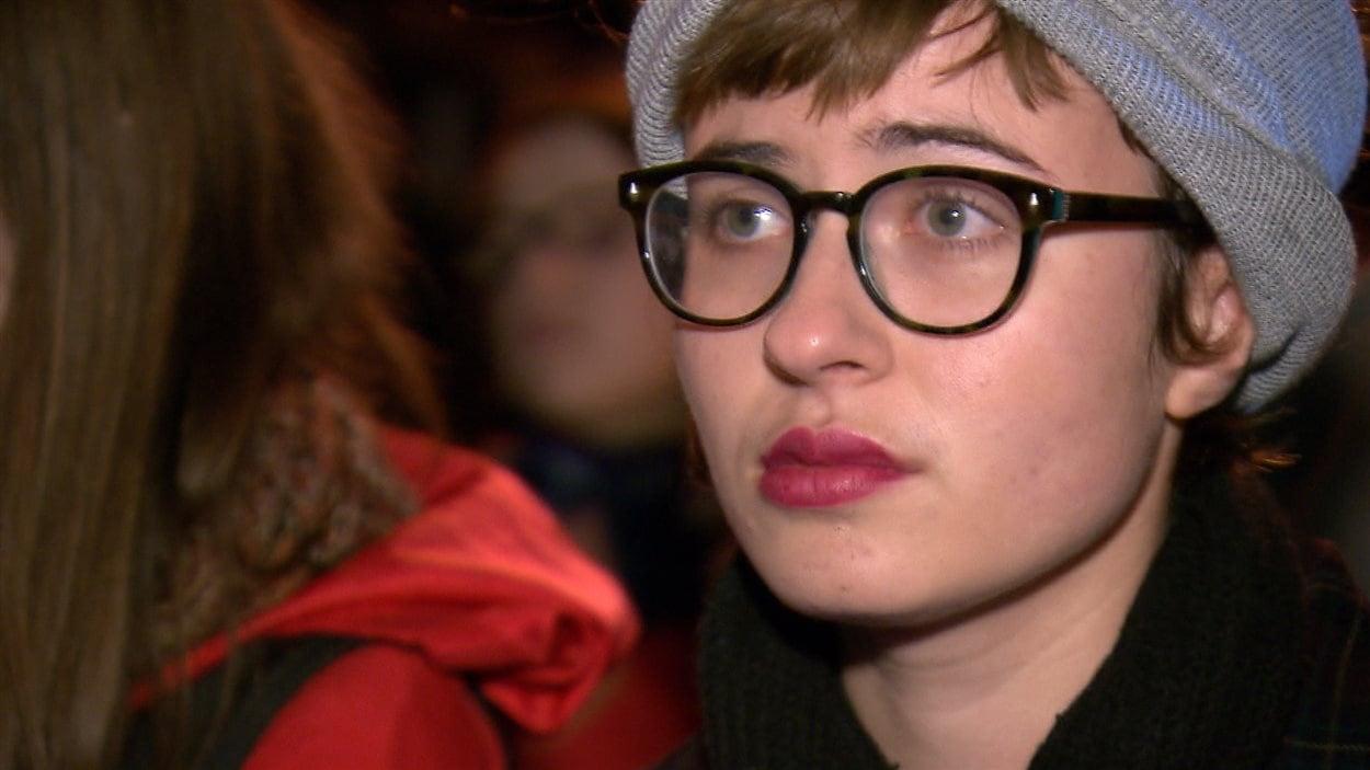 Alice Paquet, le soir où elle a déclaré publiquement avoir été agressée sexuellement par un député de l'Assemblée nationale.