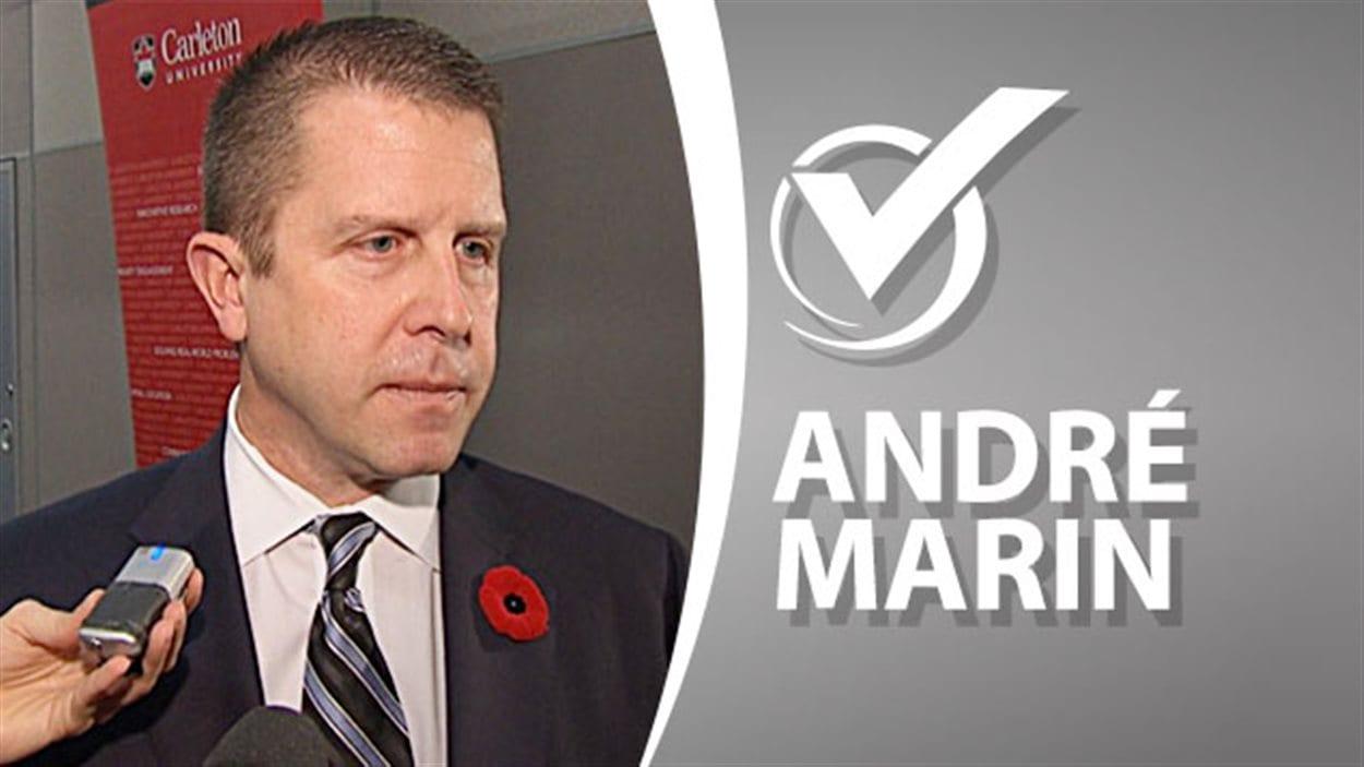 André Marin, candidat du Parti conservateur de l'Ontario dans Ottawa-Vanier