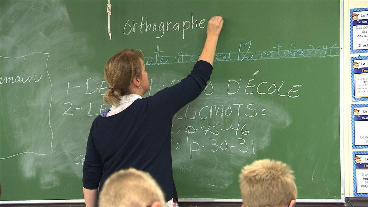Enseignante dans une classe