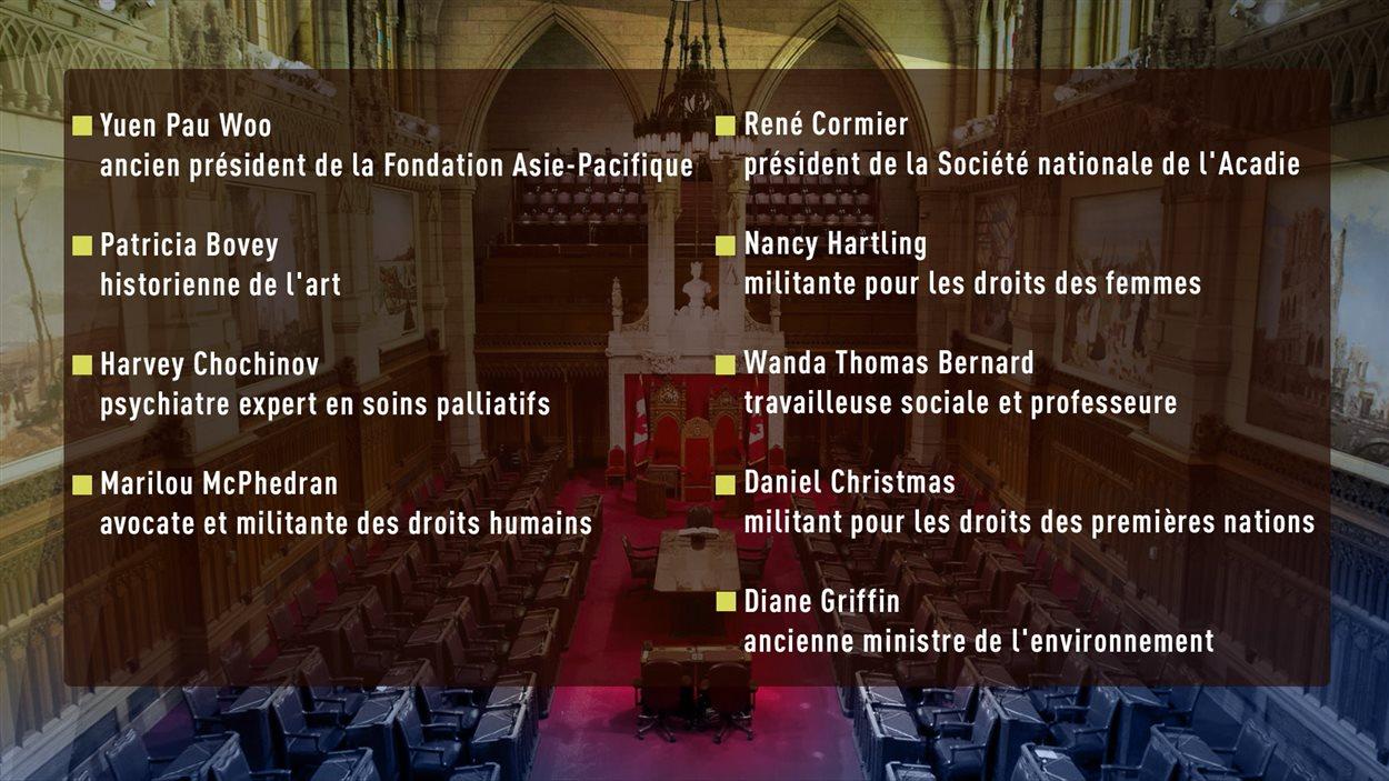 Justin Trudeau recommande la nomination de neuf nouveaux sénateurs indépendants