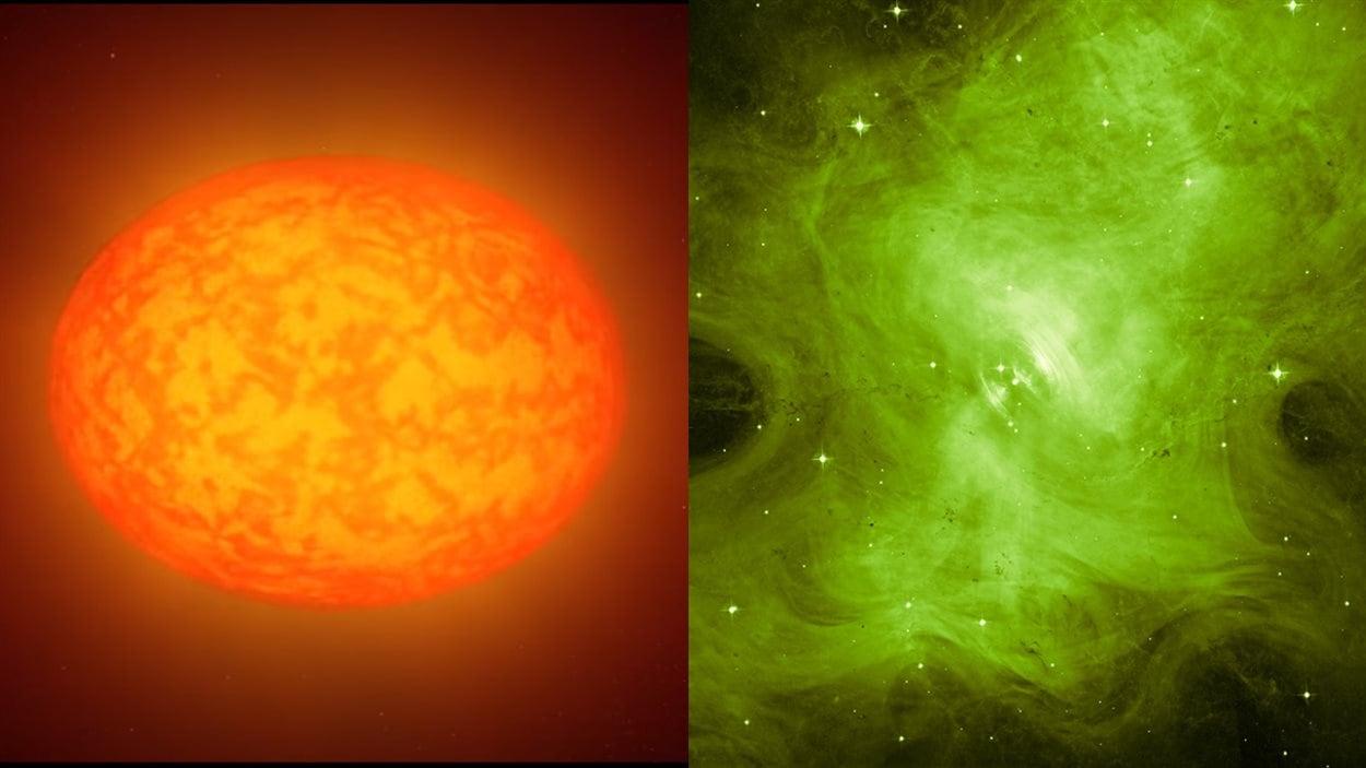 Étoiles en forme de citrouille et supernova sinistre, l'espace se pare-t-il pour l'Halloween?
