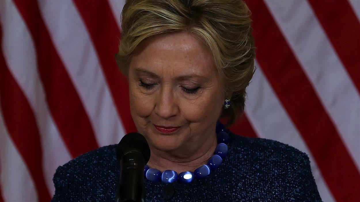 Hillary Clinton, le vendredi 28 octobre 2016, lors d'un rassemblement en Iowa.