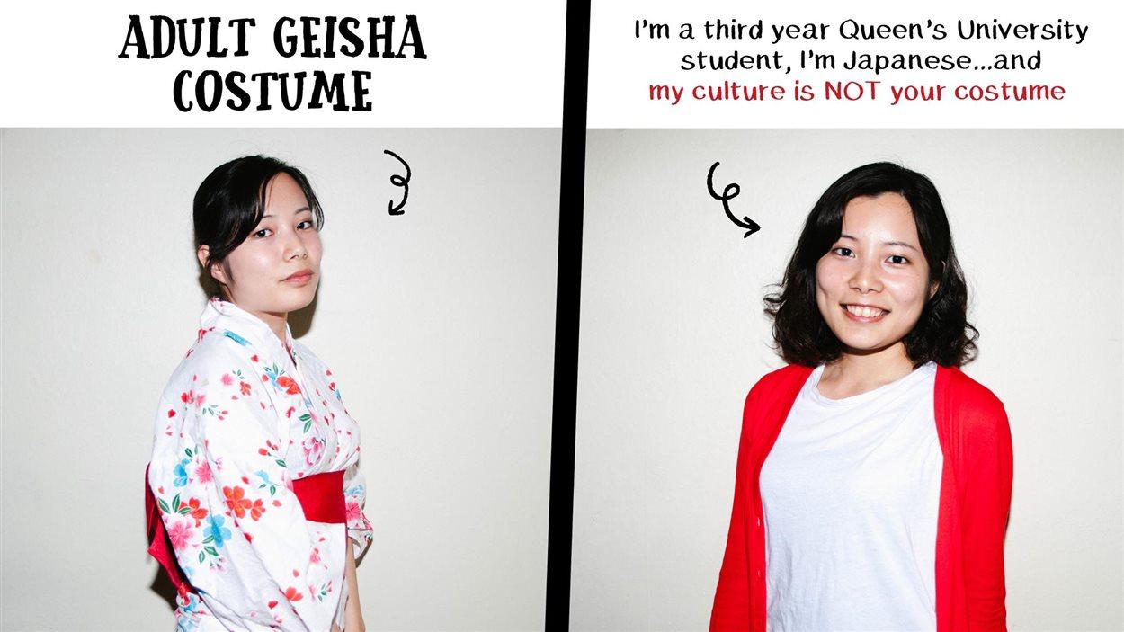 Une étudiante japonaise de l'Université Queen's offensée par celles qui s'habillent en geishas.
