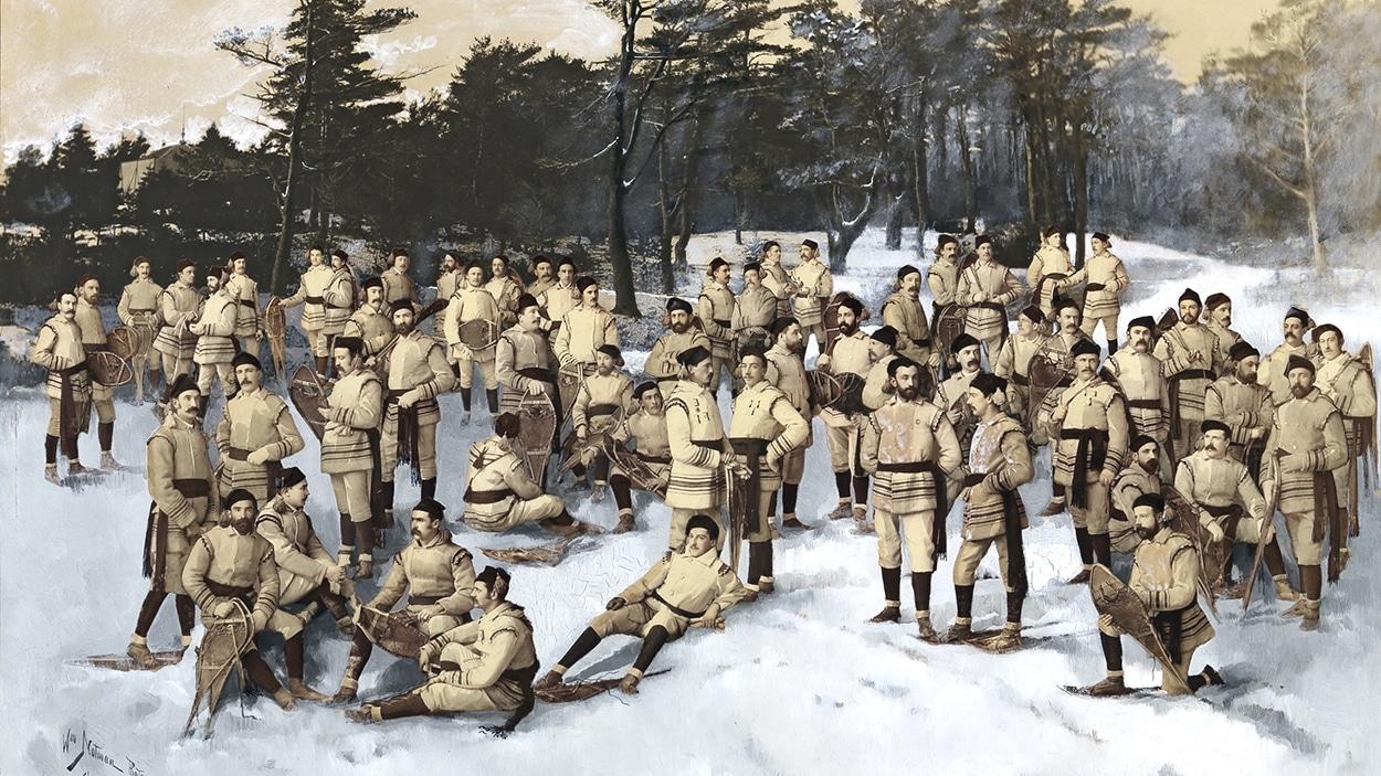 Le Red Cap Snow Shoe Club, Halifax, Nouvelle-Écosse, 1888