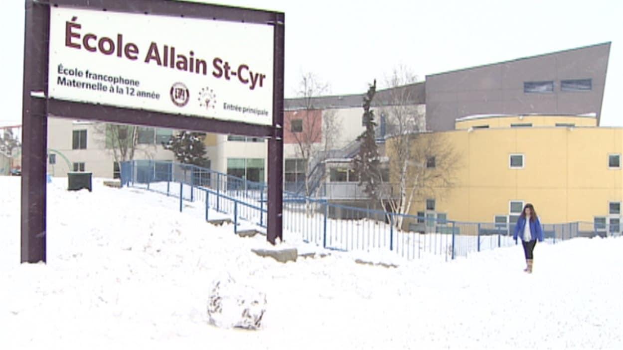 École Allain St-Cyr à Yellowknife dans les Territoires du Nord-Ouest