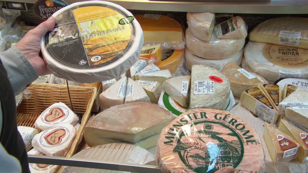 Des fromages québécois et européens