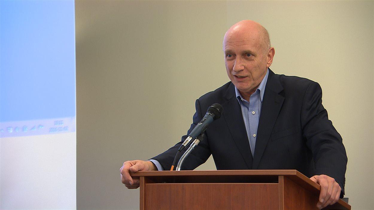 Le porte-parole du Rassemblement pour la laïcité et politologue André Lamoureux.