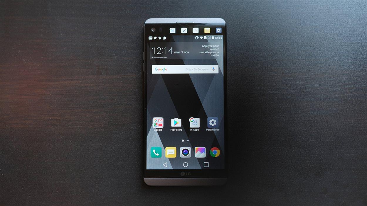 Le téléphone intelligent LG V20