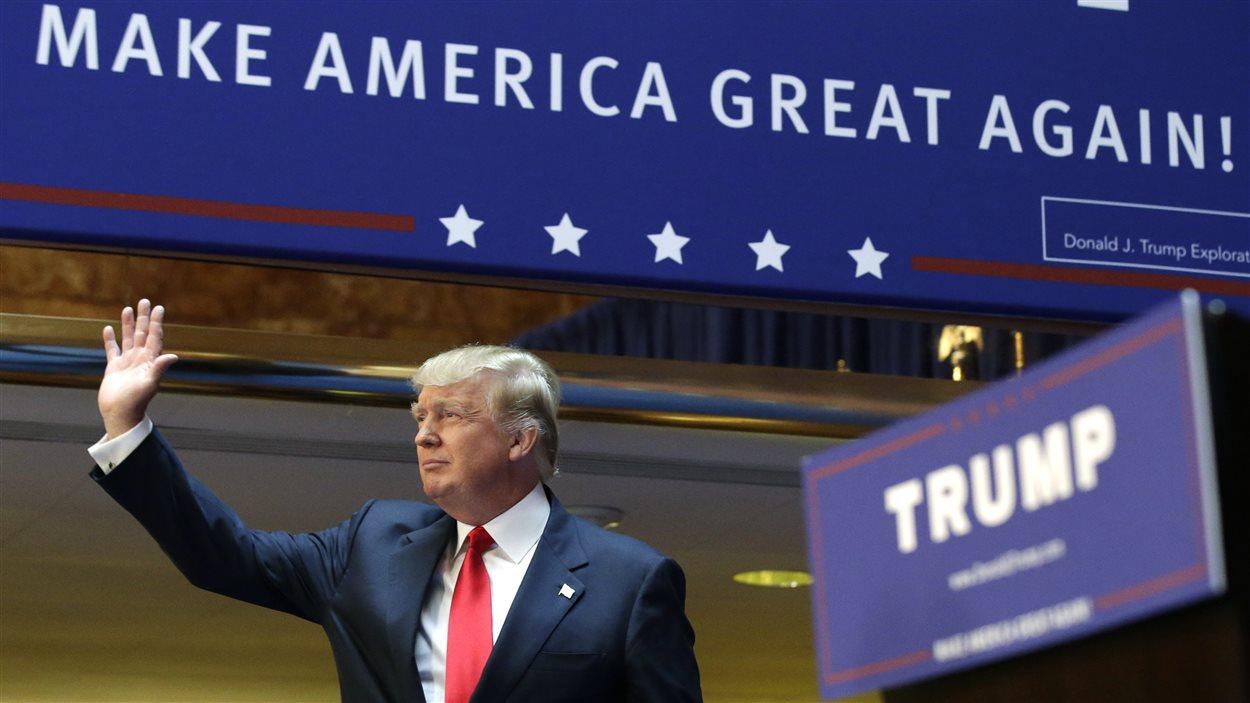 Donald Trump, lors du lancement de sa campagne