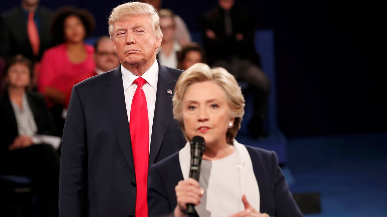 Donald Trump et Hillary Clinton lors du deuxième débat