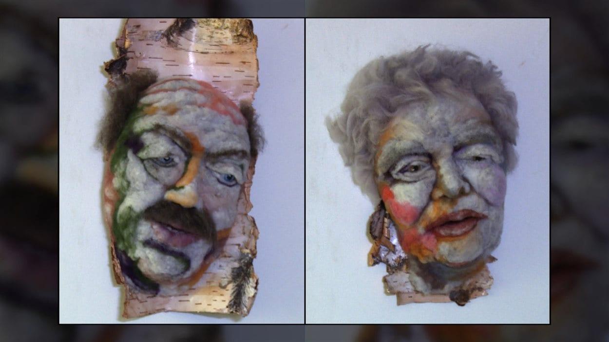 Télesphore et Marguerite des oeuvres de Rosemarie Péloquin