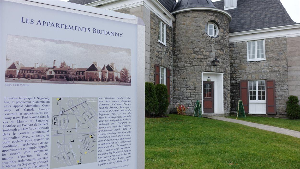 Les appartements Britanny dans le secteur d'Arvida