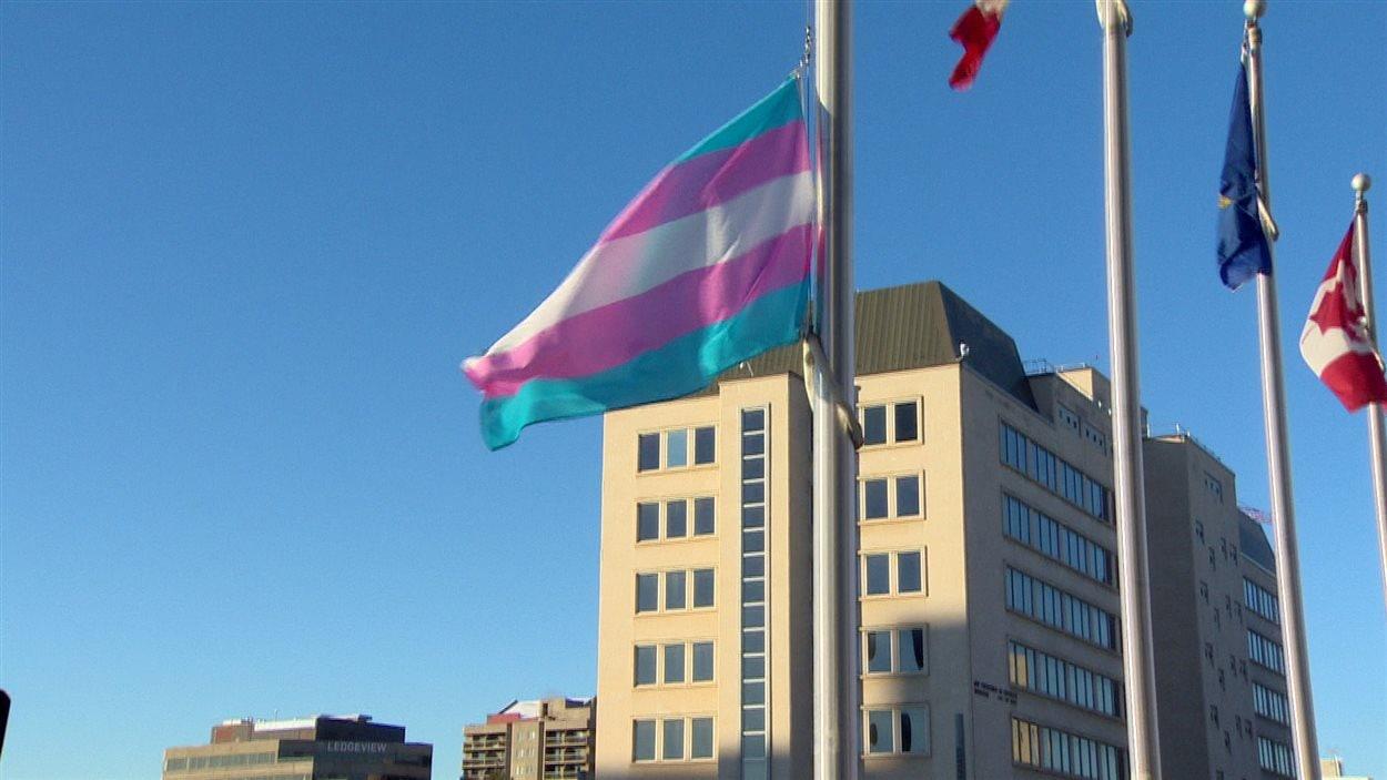 Le drapeau de la fierté transgenre