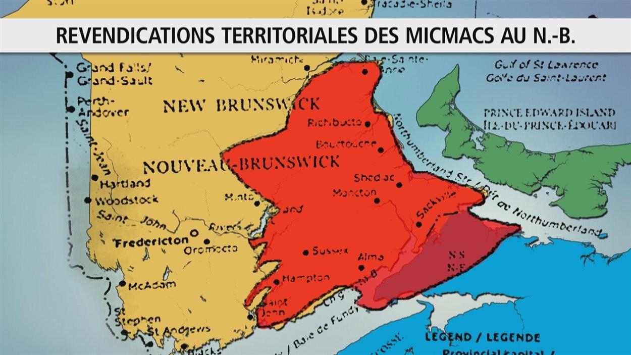 Un territoire revendiqué par les Micmacs au Nouveau-Brunswick