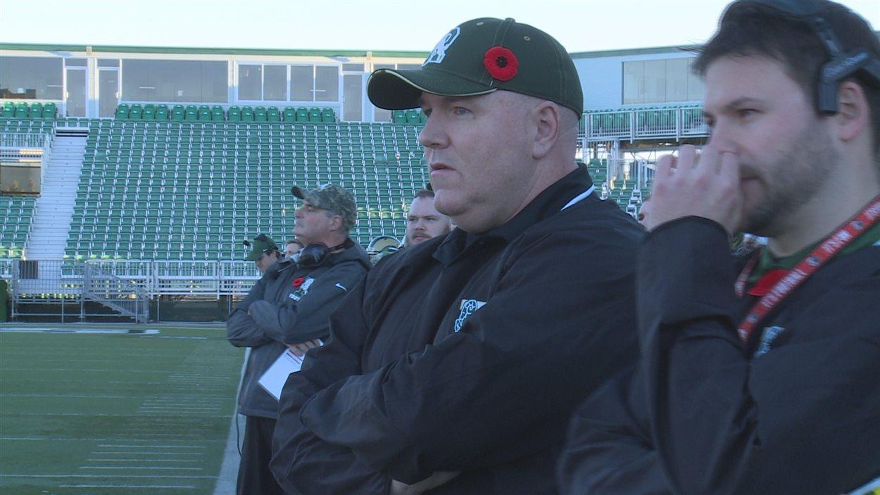 Stephen Bryce, l'entraîneur-chef des Rams de l'Université de Regina.