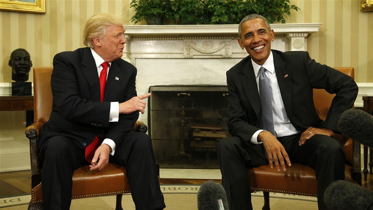 Donald Trump a rencontré Barack Obama à la Mainson-Blanche