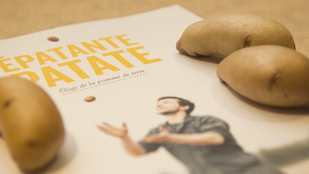 Page couverture du livre <i>Épatante patate</i>, de Véronique Leduc et Fabrice Gaëtan, publié aux Éditions Parfum d'encre