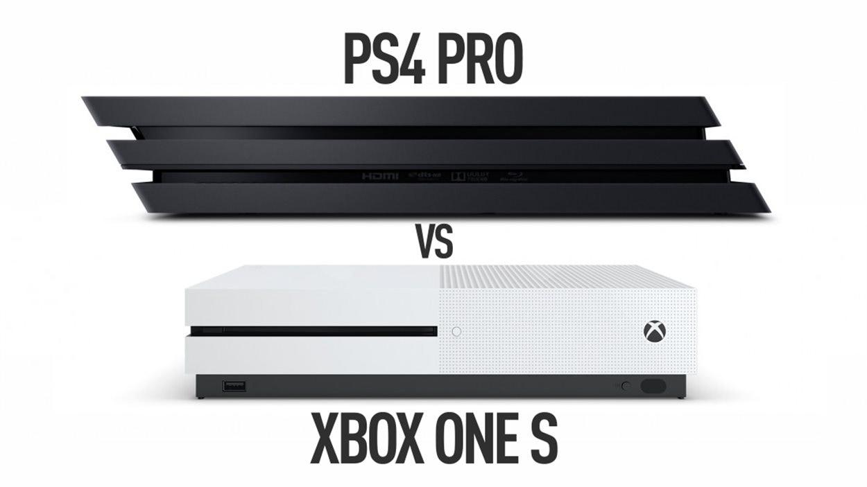 Les consoles de jeux vidéo PS4 Pro et Xbox One S