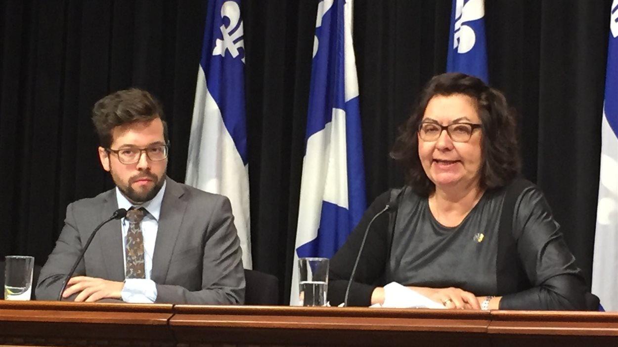 La députée caquiste Claire Samson présente son rapport sur la francisation des immigrants.